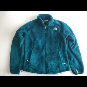 The North Face women's fuzzy teal jacket Small